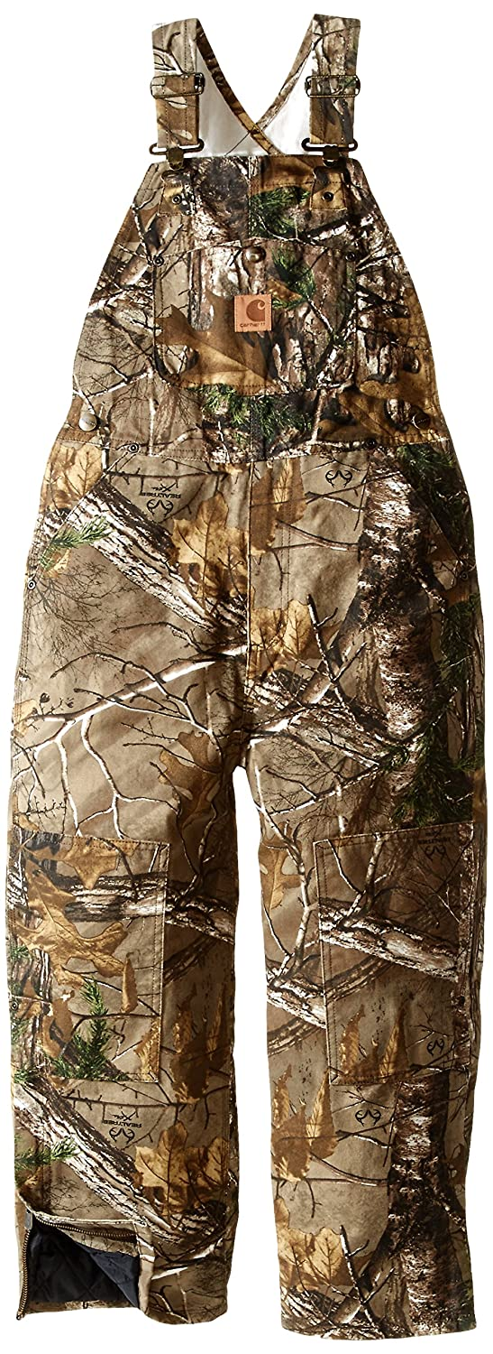 Carhartt Boys Quilt Lined Washed Work Camo Bib Overalls (8-20) CM8648