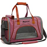 Kenox Soft-Sided Pet Travel Carrier Airline Approved Under Seat Pet Bag for Cats and Small Dogs