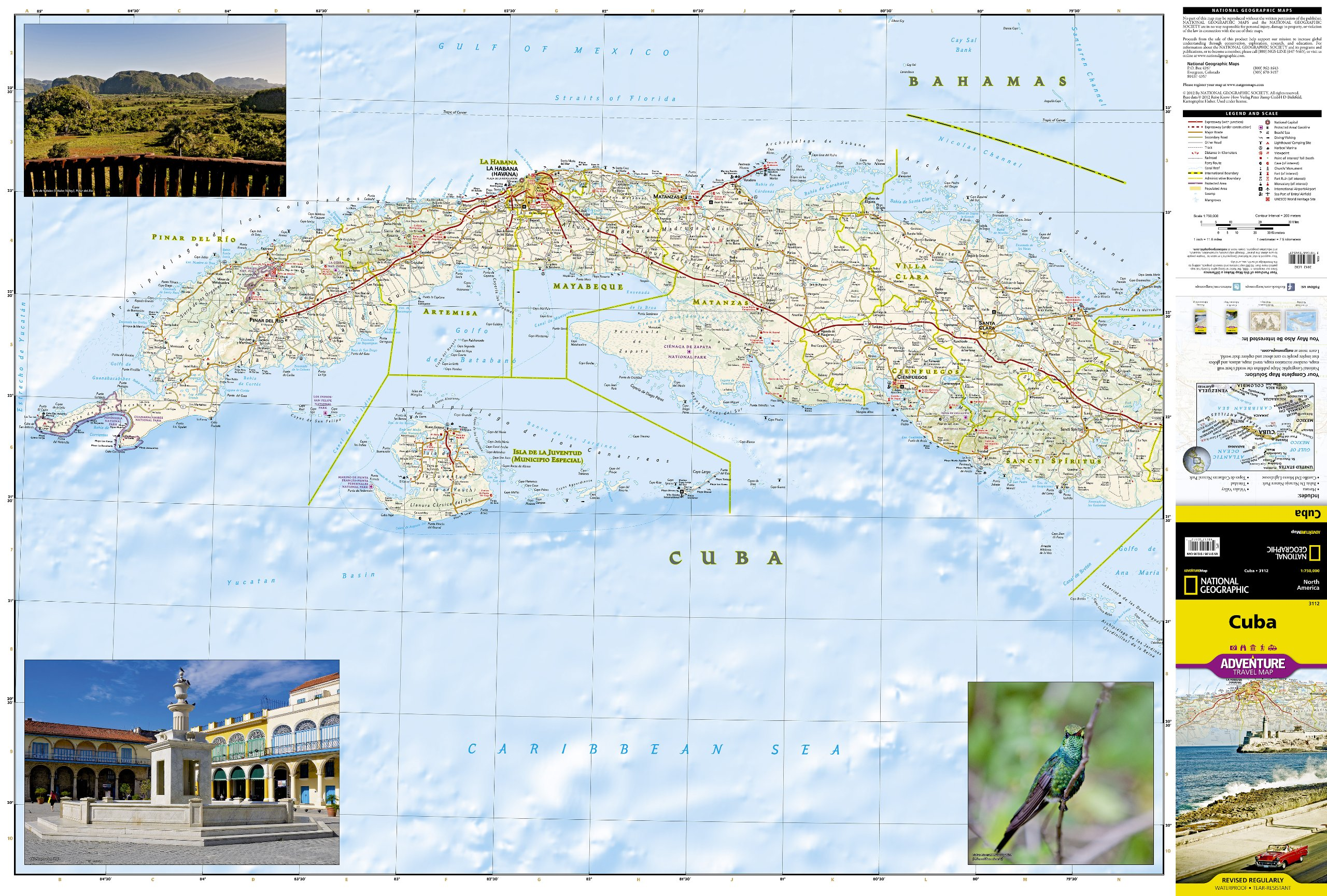 Cuba (National Geographic Adventure Map): National Geographic Maps on