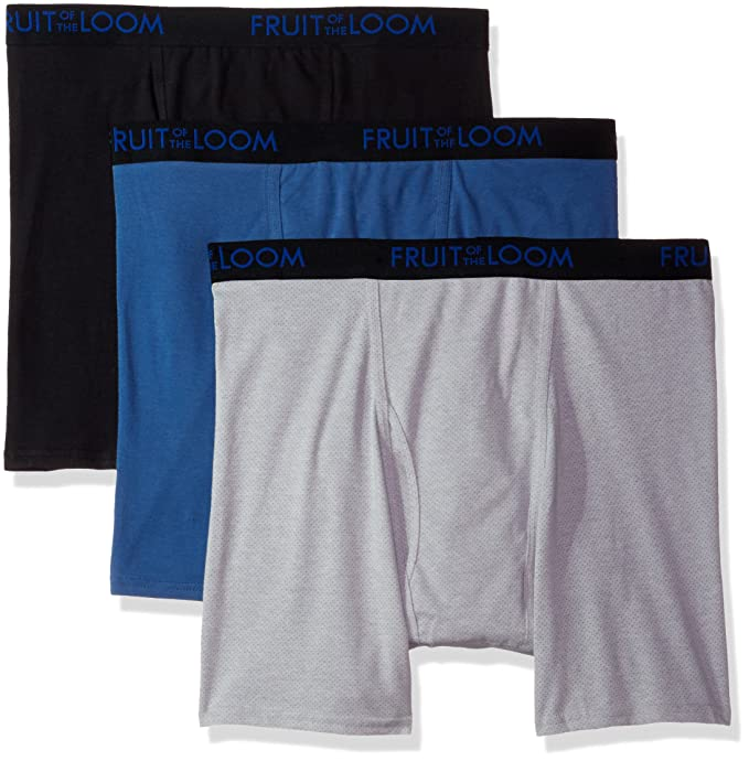 01576e39 Fruit of the Loom Men's 3-Pack Premium Breathable Cotton Micromesh Big Man  Boxer Brf