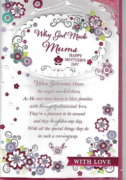 Día de la madre tarjetas ~ por qué Dios Made madres feliz ...