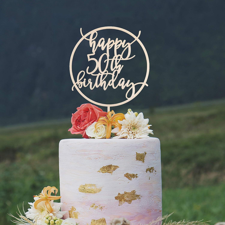 Pleasing Custom Birthday Cake Topper 50Th Birthday Cake Topper 50Th Funny Birthday Cards Online Unhofree Goldxyz