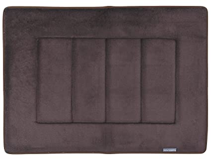 FABBRICA HOME Ultra-Soft High Density Memory Foam Bath Mat (1, Coffee Brown)