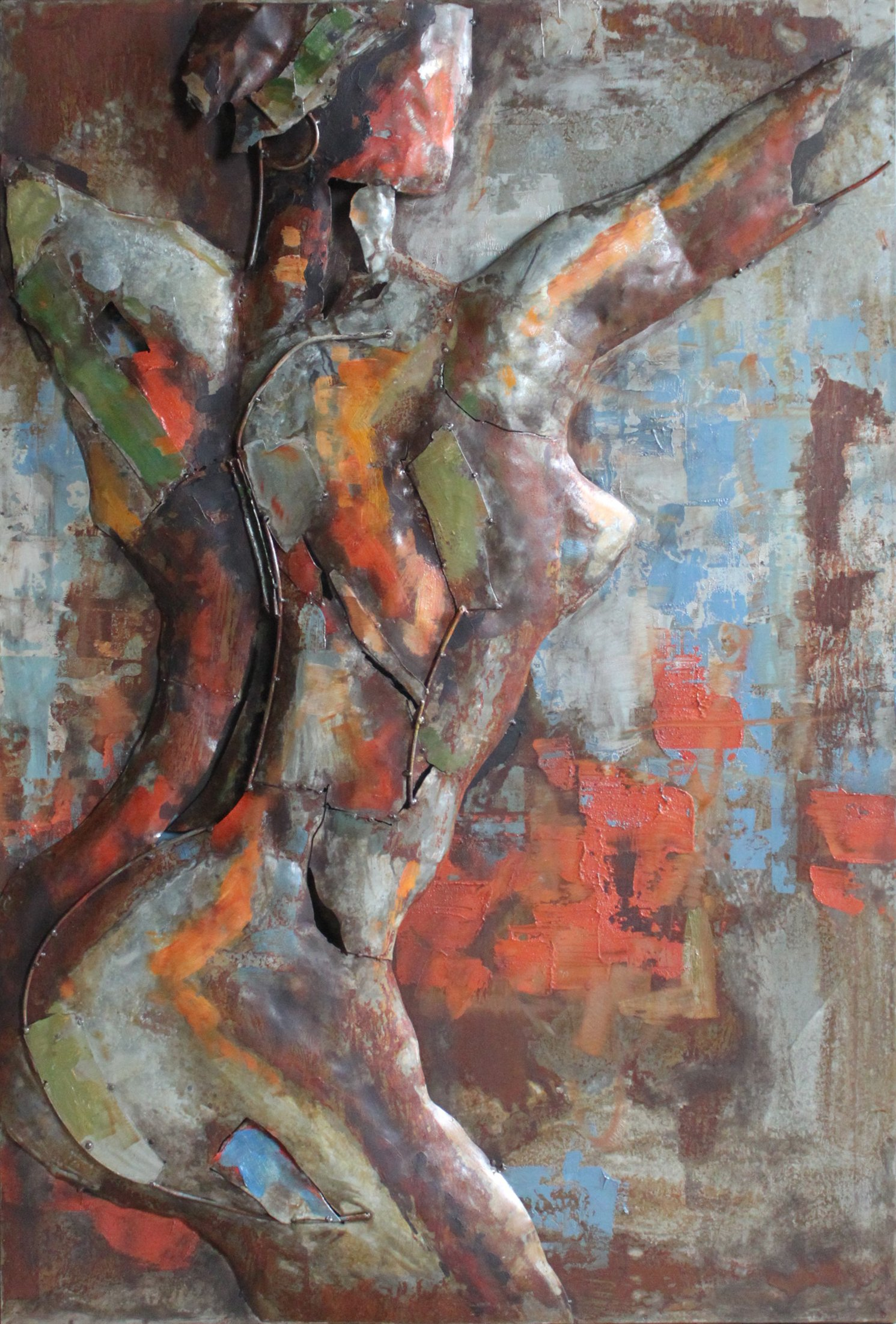 Empire Art Direct ''Nude Study 2'' Mixed Media Hand Painted Iron Wall Sculpture by Primo by Empire Art Direct