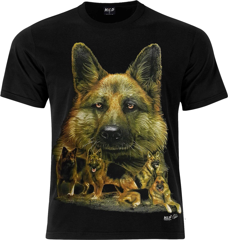 T-shirt maglia cane dog Alsatian Pastore tedesco German Shepherd tshirt magliett