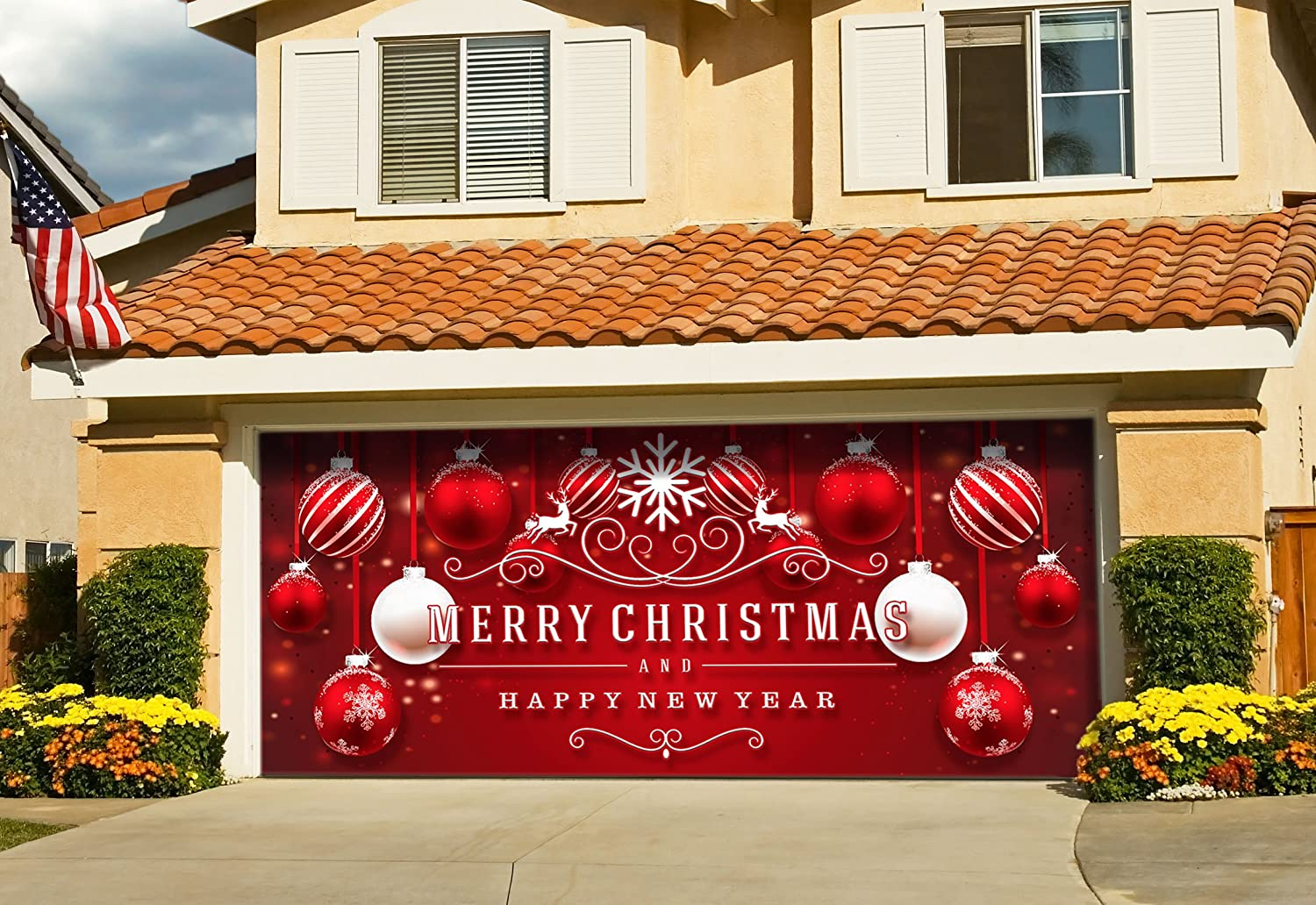 Christmas garage door decorations to make create and for Christmas garage door mural