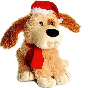 Weihnachtsdeko Hund.Belldessa Xl Hund Christmas Plüschtier 32 Cm Aus Stoff