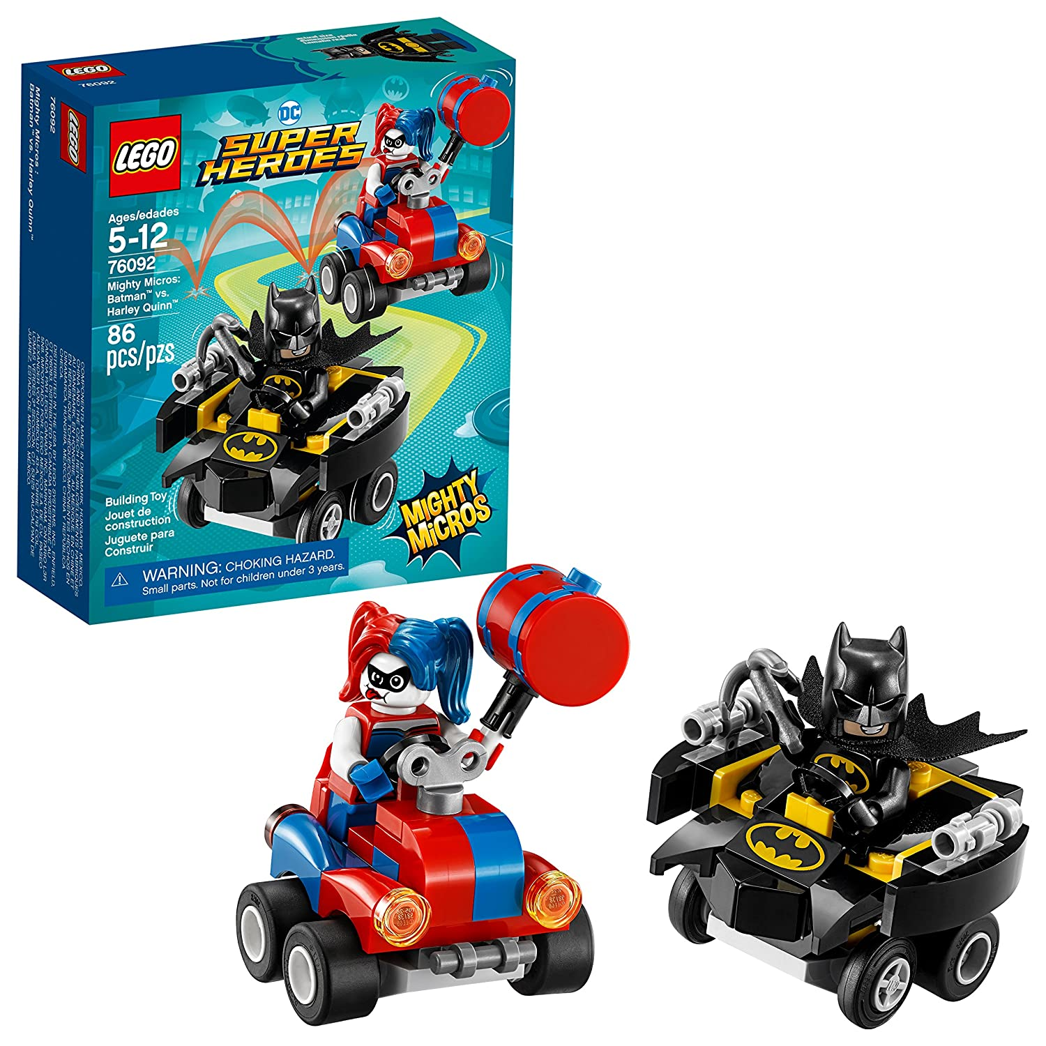 LEGO Superheroes 6212701 Mighty Micros: Batman Vs. Harley Quinn 76092 Building Kit (86 Piece)