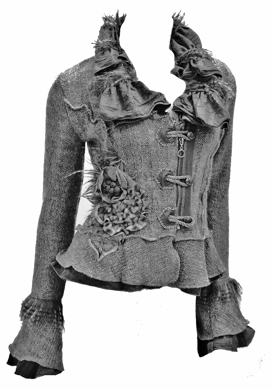 Damen Strickjacke Gardigan kurz Farbe: Schwarz #8837