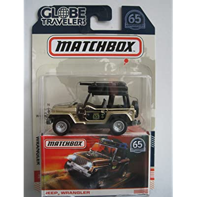 MATCHBOX GLOBE TRAVELERS GOLD/BLACK JEEP WRANGLER 65TH ANNIVERSARY: Toys & Games