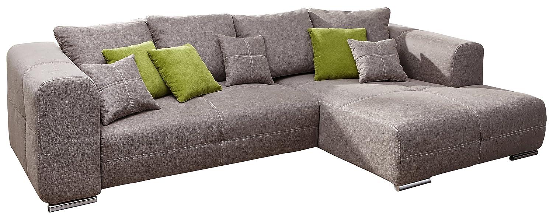 Cavadore 5032 Polsterecke Binato, 3-Sitzer mit Bett links, Longchair rechts, 288 x 87 x 171 cm, Toro steelgrau 38