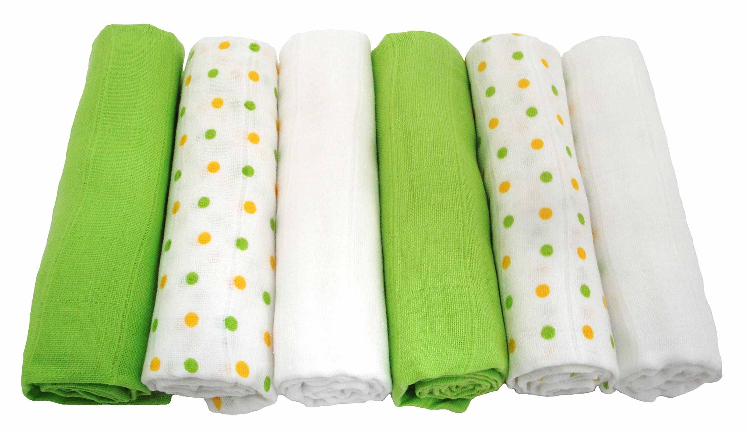 Muslinz - Paños de muselina (6 unidades), color verde product image