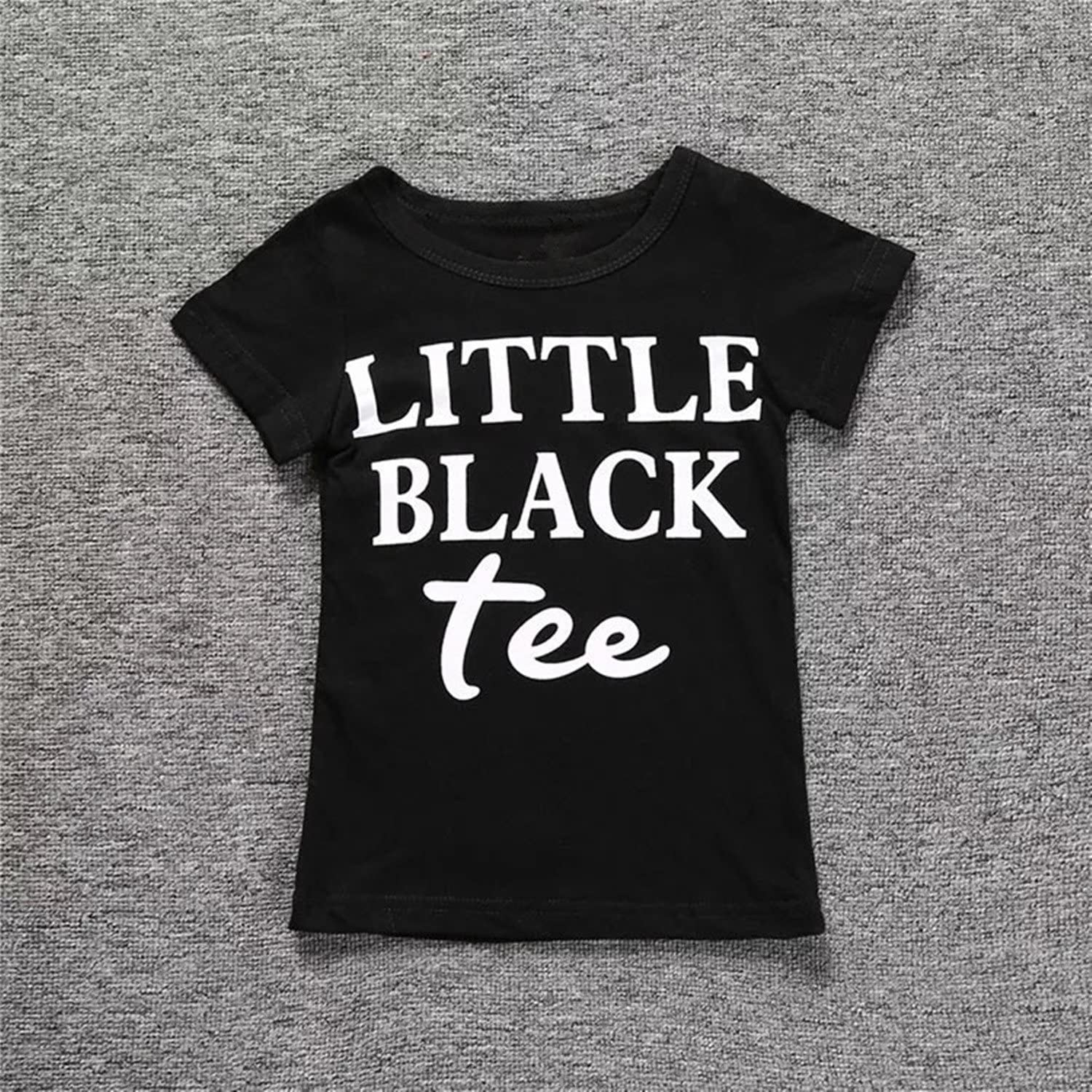 Baby Girls Letters Printed Short T-Shirts and Kids Friend Style Ripped Shorts Outfits