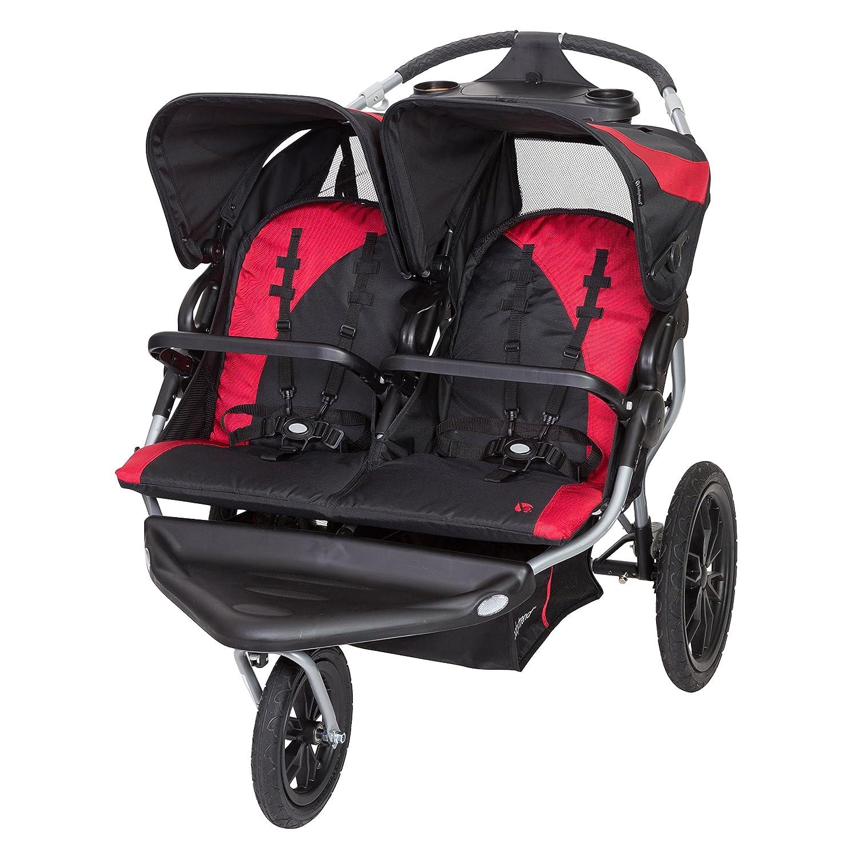 Baby Trend Navigator Lite Double Jogger Stroller, Candy Apple DJ86B78B