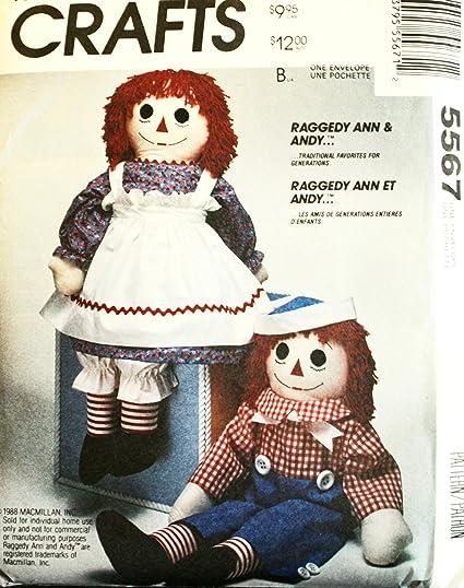 Amazon.com: McCall\'s 8378 Crafts Sewing Pattern Stuffed Raggedy Ann ...