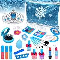 Kids Washable Makeup kit Girls - Frozen Real Cosmetic Toy Little Girl , Toddler & Non-Toxic Make Up Set , Children…