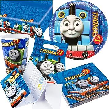 Thomas die Lokomotive Party Set 63-teilig für 6 Gäste Eisenbahn Partypaket