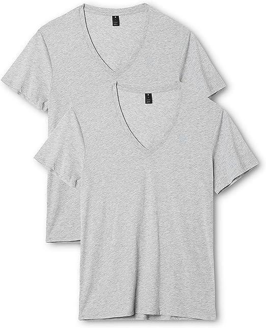 G-STAR RAW Herren Base V T S//S 2-Pack T-Shirt