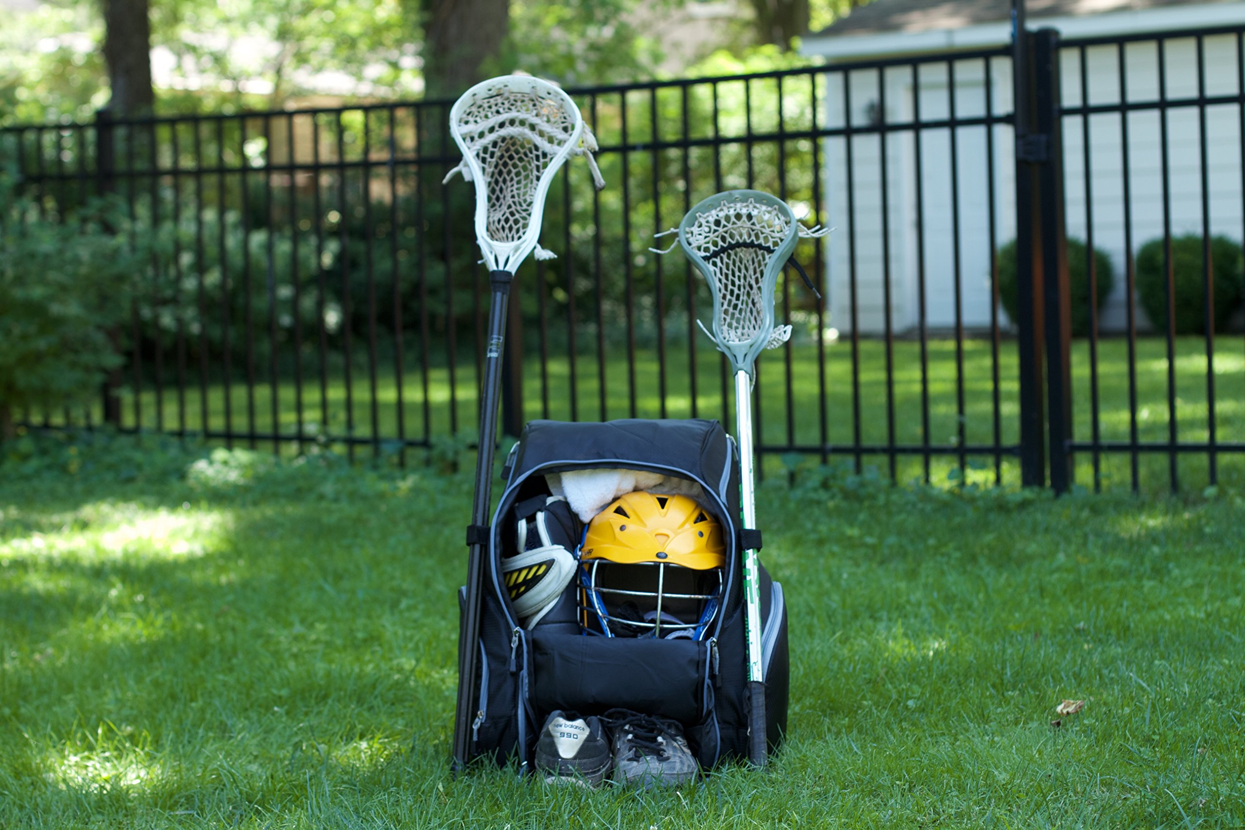 Throwback Gametime Pack XL - Large Lacrosse Backpack & Field Hockey Bag With Cooler - Perfect For Multi-Sport Athletes - Includes Racquet Holder For Tennis, Racquetball + Separate Shoe Compartment by Throwback Sports (Image #3)