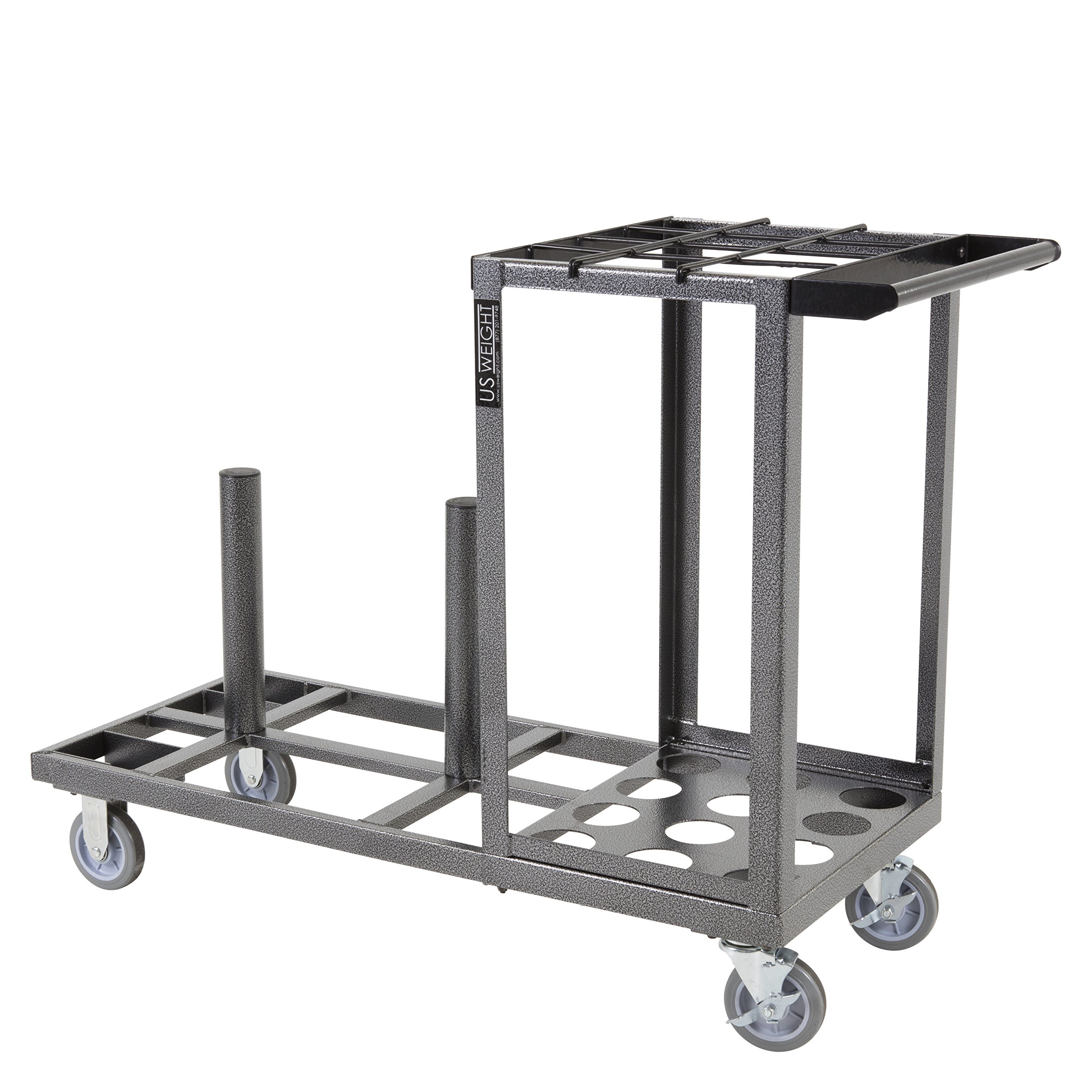 US Weight Statesman Stanchion Cart Kit – 12 Premium Black Steel Stanchions with Cart by US Weight (Image #20)
