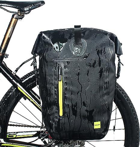 Selighting Bolsas Sillín Bicicleta Portaequipajes Alforjas Trasera para Bicicleta Impermeable y Multifunción Alforja Asiento Trasero Carrier para Ciclismo,Viaje 25L: Amazon.es: Deportes y aire libre