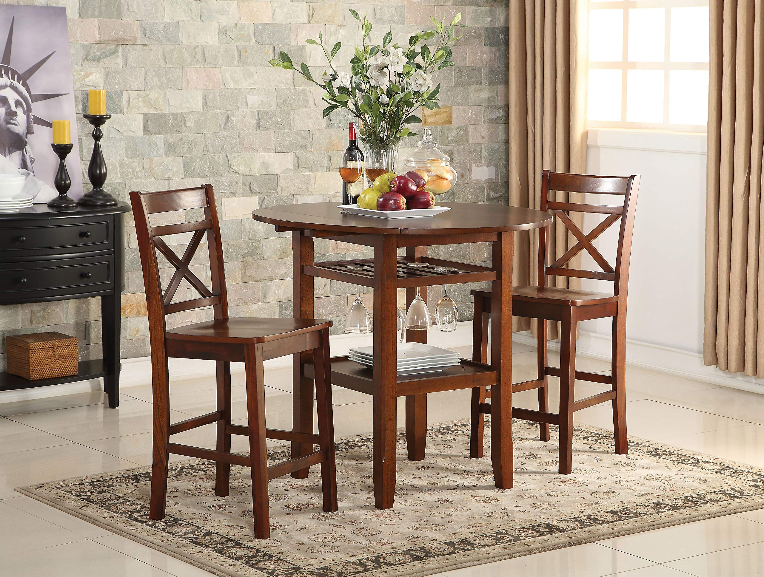 Acme Furniture 72535 Tartys Counter Height Table, Cherry