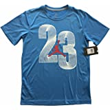 Jordan Boys Short Sleeve Jumpman 23 Logo Dri-Fit T-Shirt Tee Blue Size L (12-13 Yrs)