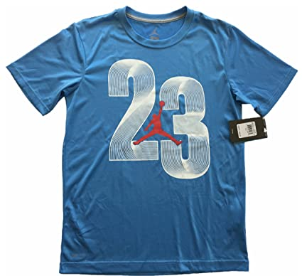 2e11c228476 Image Unavailable. Image not available for. Color: Jordan Boys Short Sleeve  Jumpman 23 Logo Dri-Fit T-Shirt Tee ...