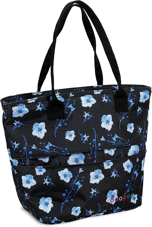J World New York Women's Sunrise Rolling Backpack Travel Tote, Night Bloom, One Size