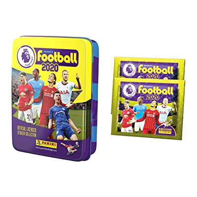 2020-20 Panini Premier League Stickers - Pocket Tin + 2 Bonus Promo Packs (Includes 10 Packs + 2 Promo Packs) (Total of 60 Stickers): Arts, Crafts & Sewing