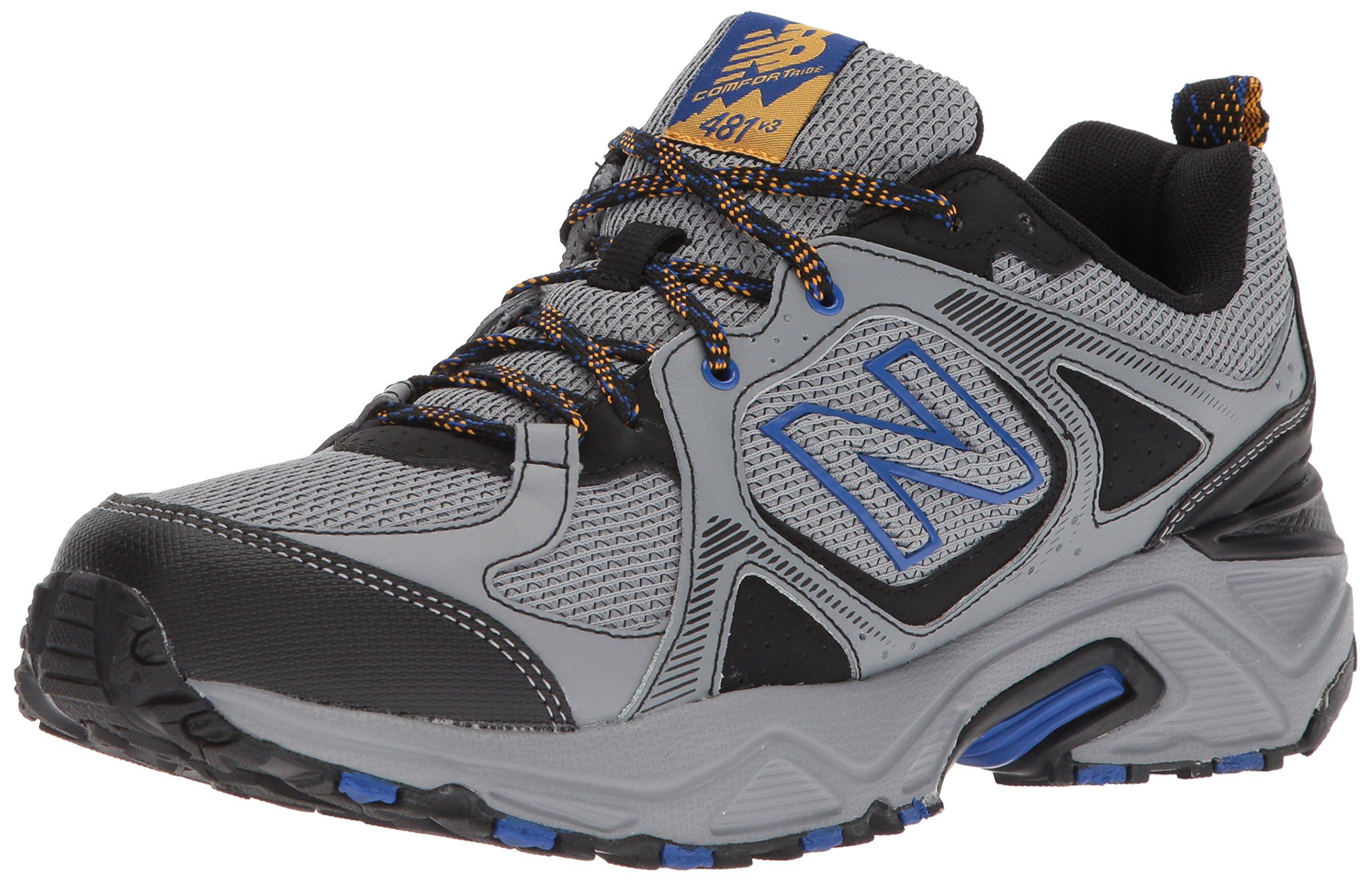 New Balance Men's 481V3 Cushioning Trail Running Shoe, Steel, 7 D US