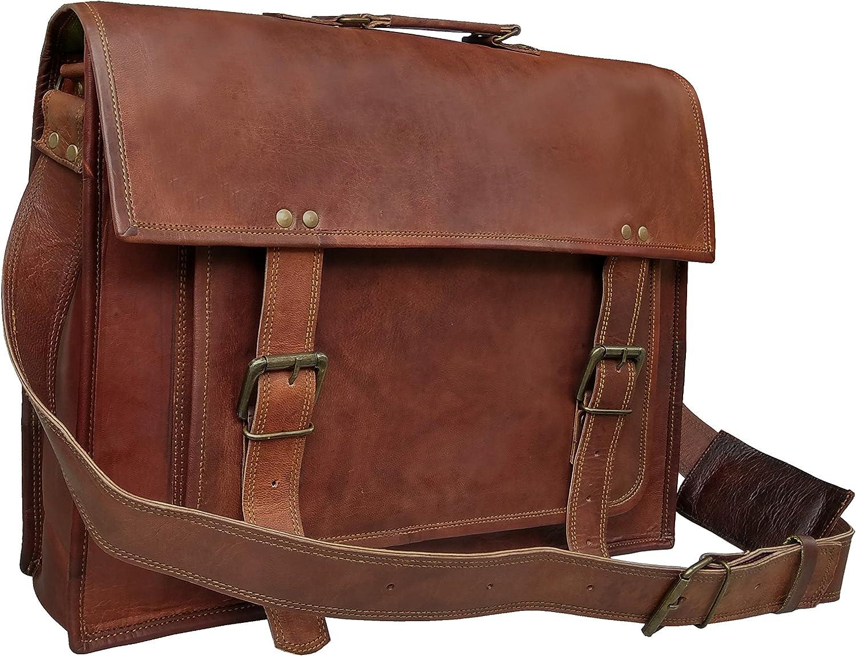 18 Inch Leather Messenger Bags For Men Women Mens Briefcase 17 Inch Laptop Bag Best Computer Shoulder Satchel School
