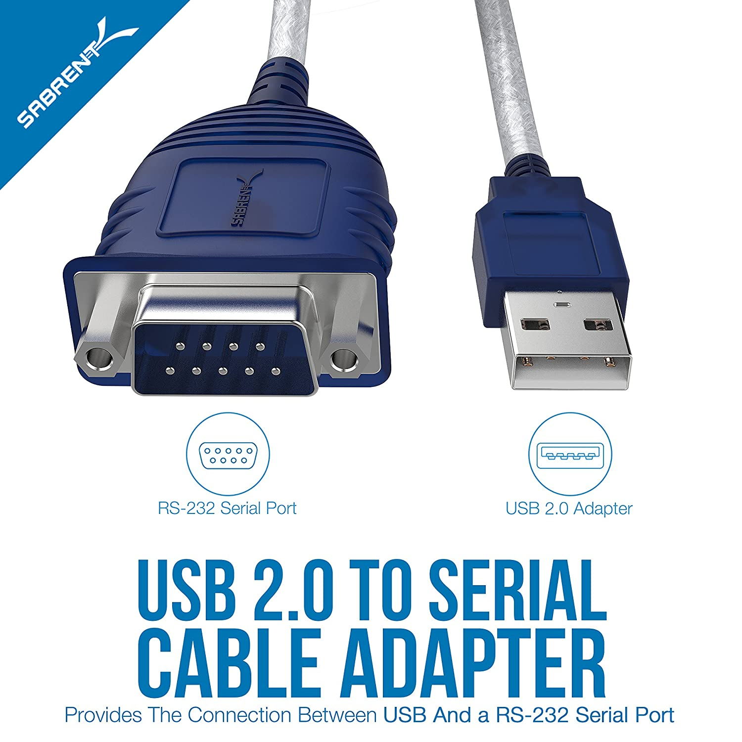 Sabrent Usb 20 To Serial 9 Pin Db Rs 232 Converter Selecting And Using Interface Parts For Your Power Supply Voltages Cable Prolific Chipset Hexnuts Windows 10 81 8 7 Vista Xp Mac Os X 106 Above