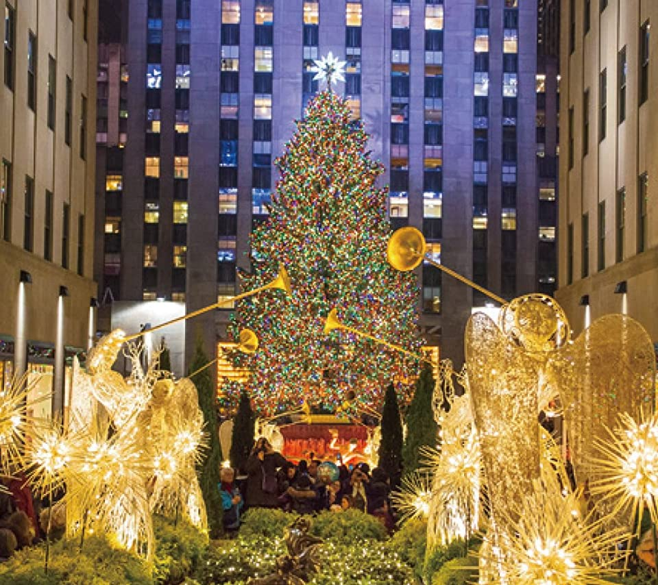クリスマス ロックフェラーセンター ニューヨーク のクリスマスツリー