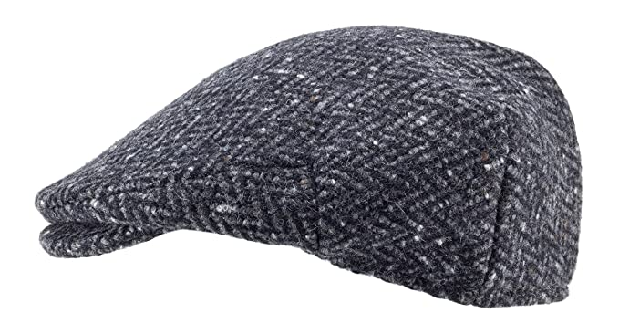 c51f3d2be6654 Image Unavailable. Image not available for. Color  100% Handmade Handwoven  Tweed.Irish Flat Cap.Black Herringbone.made by Hanna