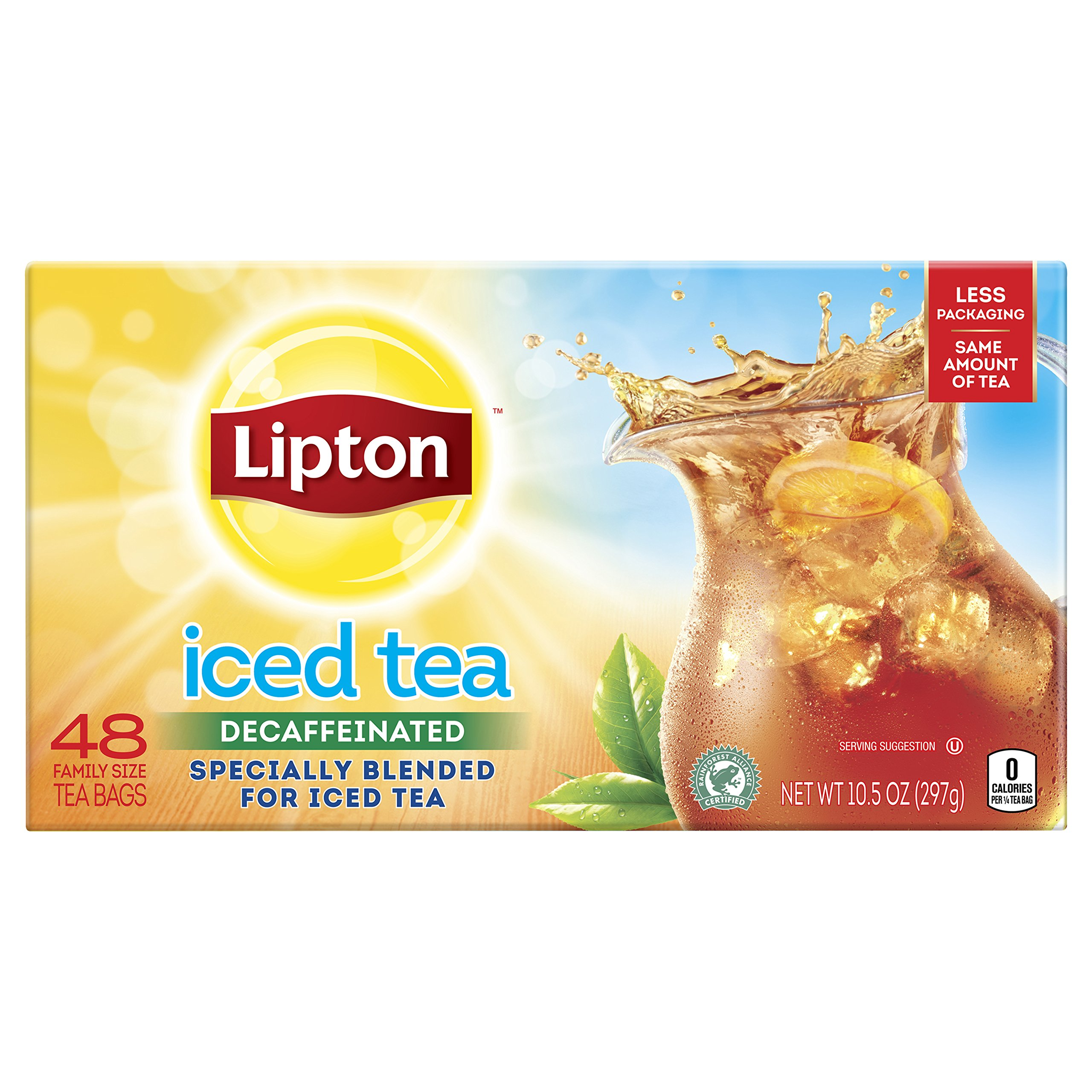 Lipton Family Iced Tea Bags, Black tea, 48 ct, pack of 6 by Lipton