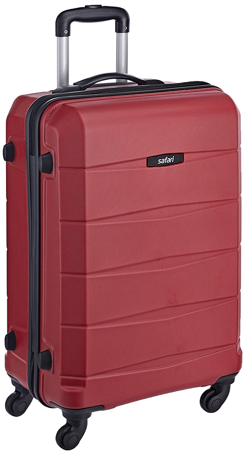 Safari Polycarbonate 65 cms Red Hardsided Suitcase (REGLOSS ANTISCRATCH 4W 65 RED)