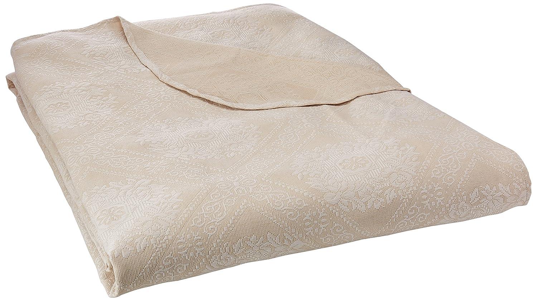 Stylemaster Torino Full Matelasse Bedspread, White