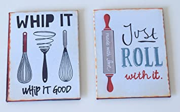 Retro Style Metal Wall Signs Plaque Fridge Magnets Kitchen Baking