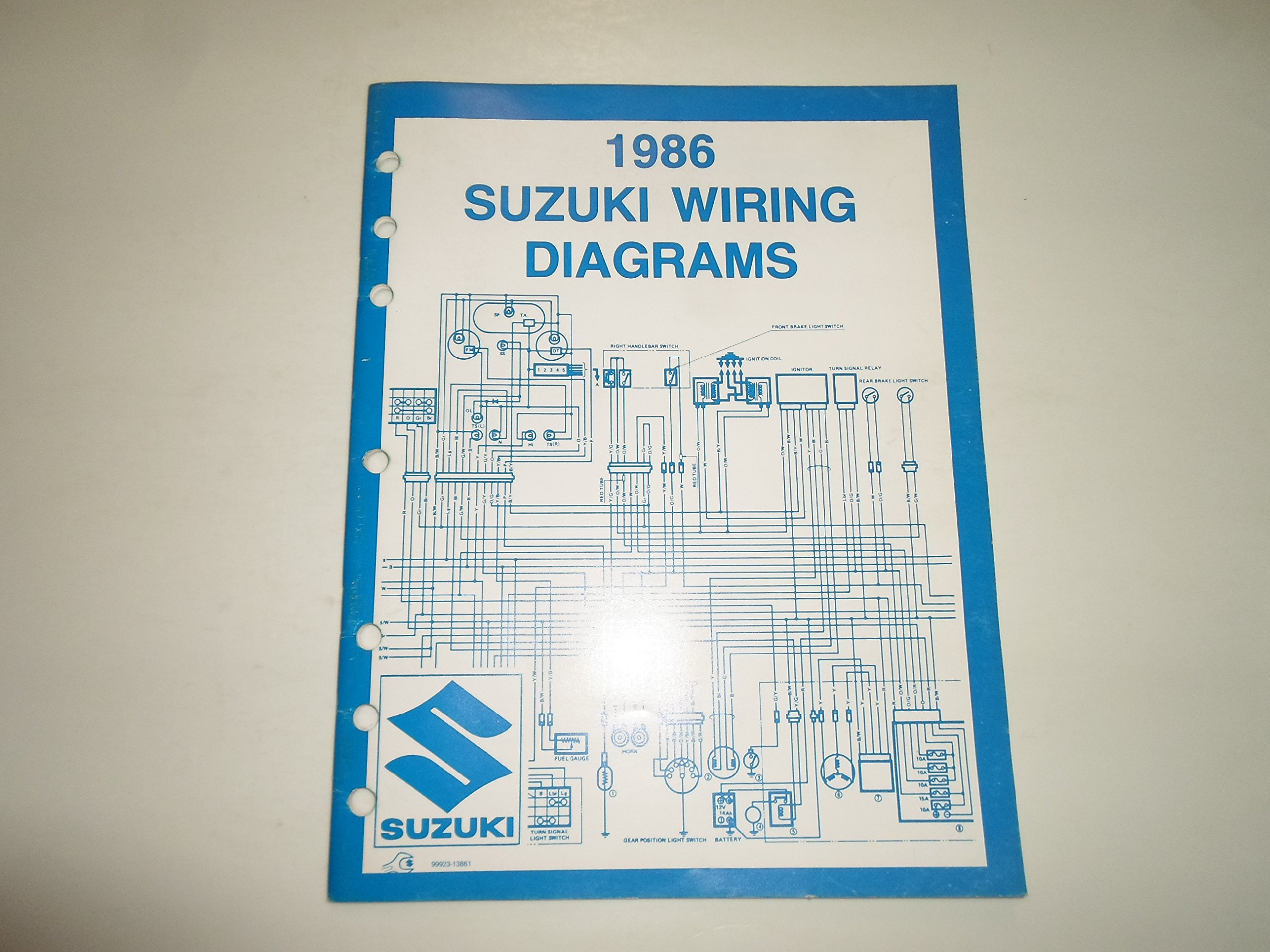 1986 Suzuki Motorcycle A.T.V. G Models Wiring Diagrams Manual MINOR ...