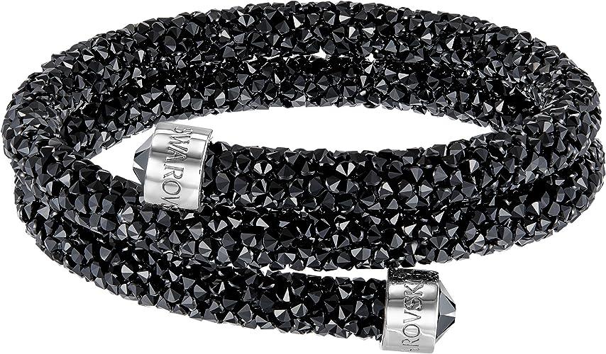 Swarovski Bracelet-jonc Crystaldust Double, noir: Amazon.fr: Bijoux