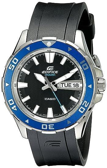 Casio EFM100 - Reloj de pulsera hombre, caucho, color negro: Amazon.es: Relojes