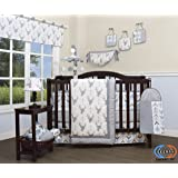 GEENNY 13 Piece Boutique Baby Nursery Crib Bedding Set, Woodland Deer Arrow, Multi-Colors, Crib