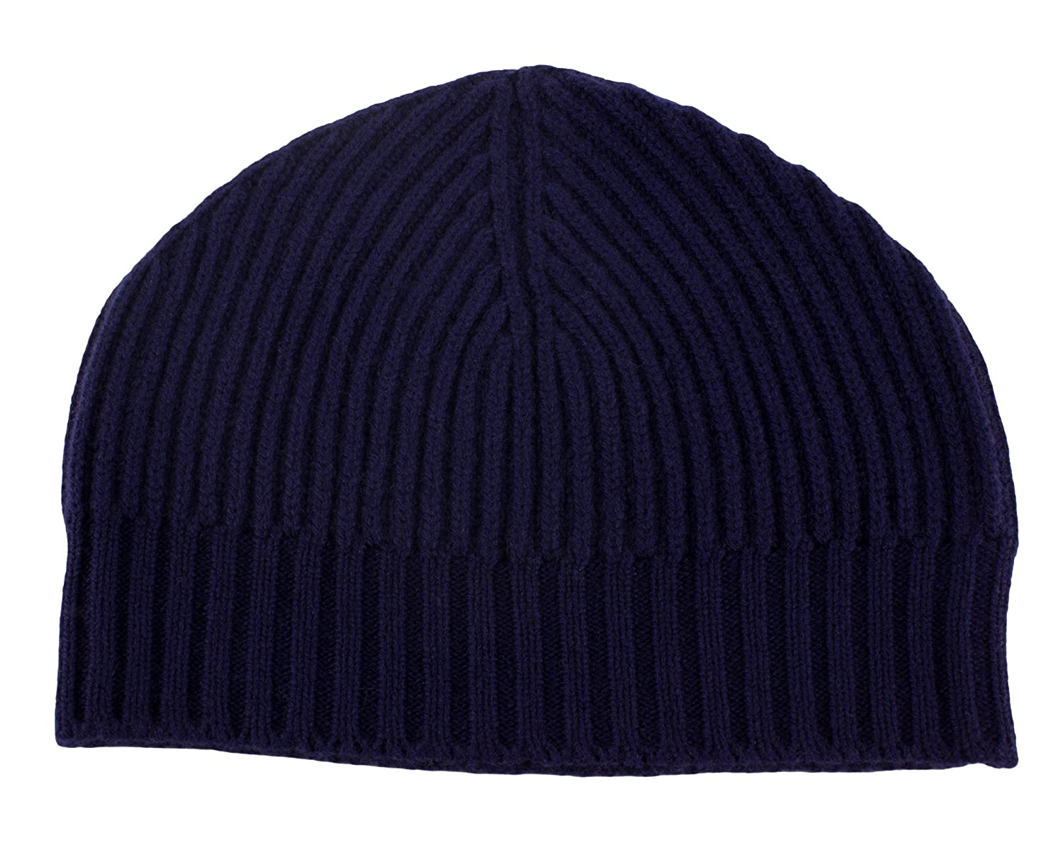 ec70debfb37 Love Cashmere Mens Ribbed 100% Cashmere Beanie Hat - Navy Blue - Made in  Scotland RRP  180 at Amazon Men s Clothing store