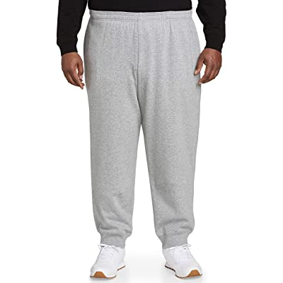 Essentials Men's Big & Tall Closed Bottom Fleece Pant fit by DXL: Clothing