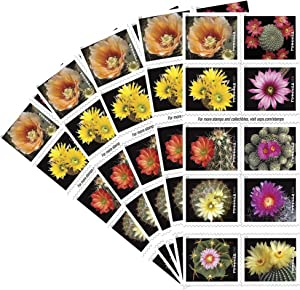 Cactus Flowers 5 Books of 20 Forever First Class USPS Postage Stamps Celebration Wedding (100 Stamps)