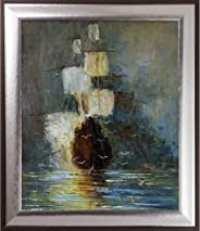 ArtistBe Hand Painted Oil Reproduction Nostalgy by Justyna Kopania Framed, 29.25