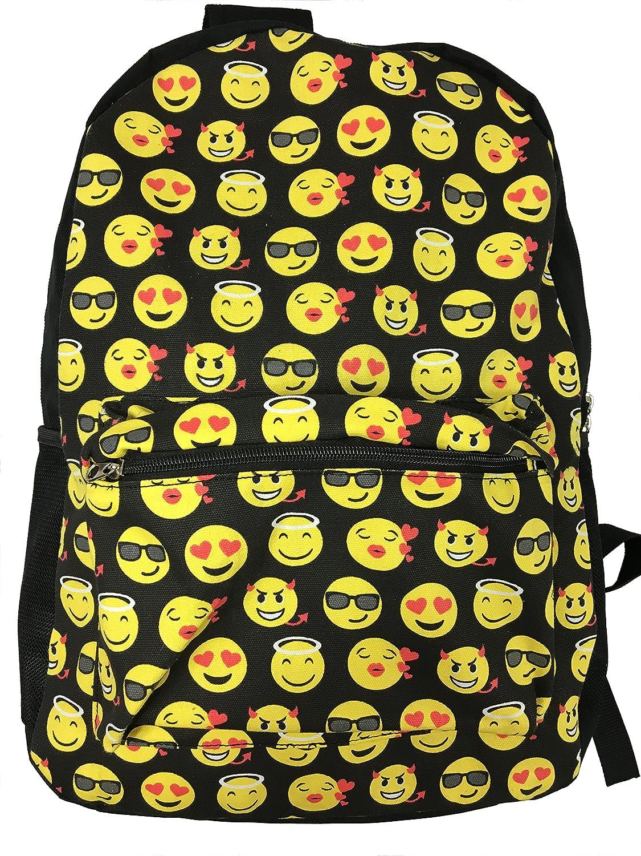 Sonrisa Estilos Emoti - Mochila escolar diseño emoticonos - Bolsa de hombro - Mochila de viaje. (Negro): Amazon.es: Equipaje