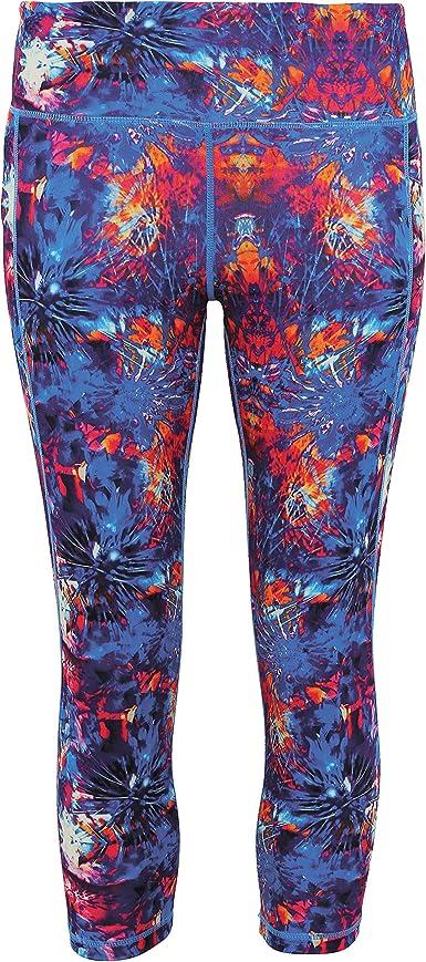 TriDri Womens Performance Fireworks 3//4 Length Gym Running Sports Leggings Pants