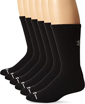 6-Pack Under Armour Men's Charged Cotton Crew Sock